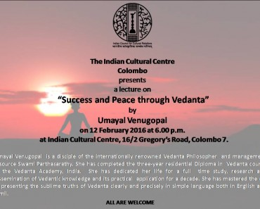 Success and Peace through Vedanta