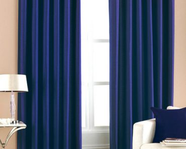 Green and blue curtains will keep your room to cool
