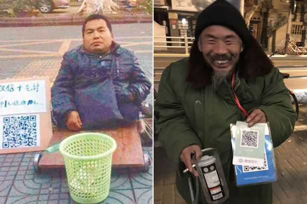 Beggars-now-accepting-mobile-payments-in-china